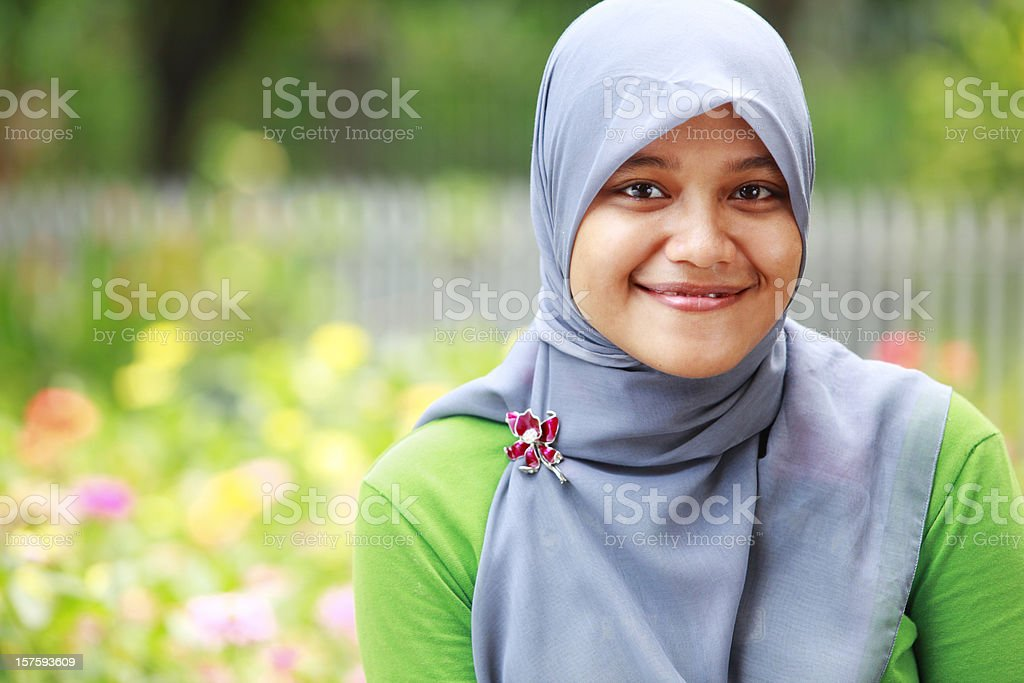 portrait of young indonesian woman royalty-free stock photo