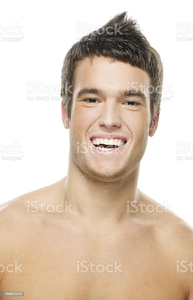 portrait of young laughing man royalty-free stock photo