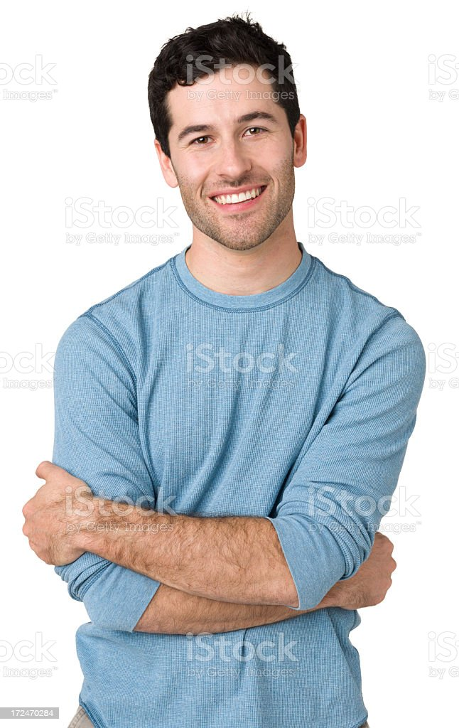 Portrait Of Young Man, Arms Crossed royalty-free stock photo