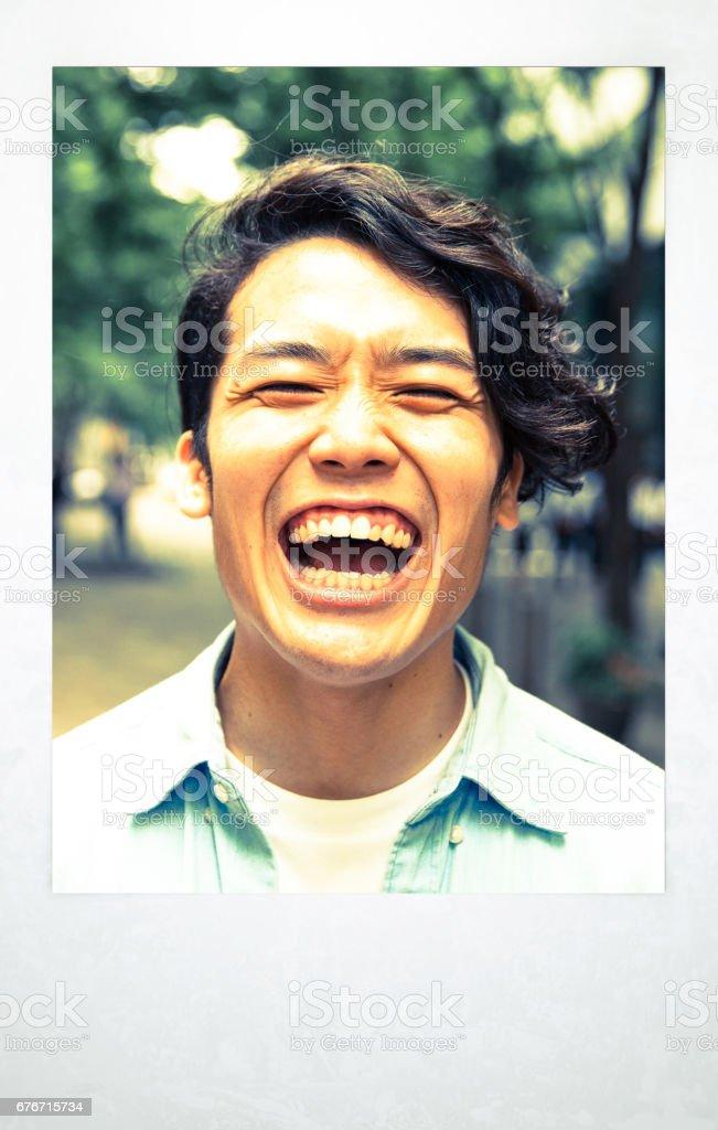 東京で若い男の肖像 ストックフォト