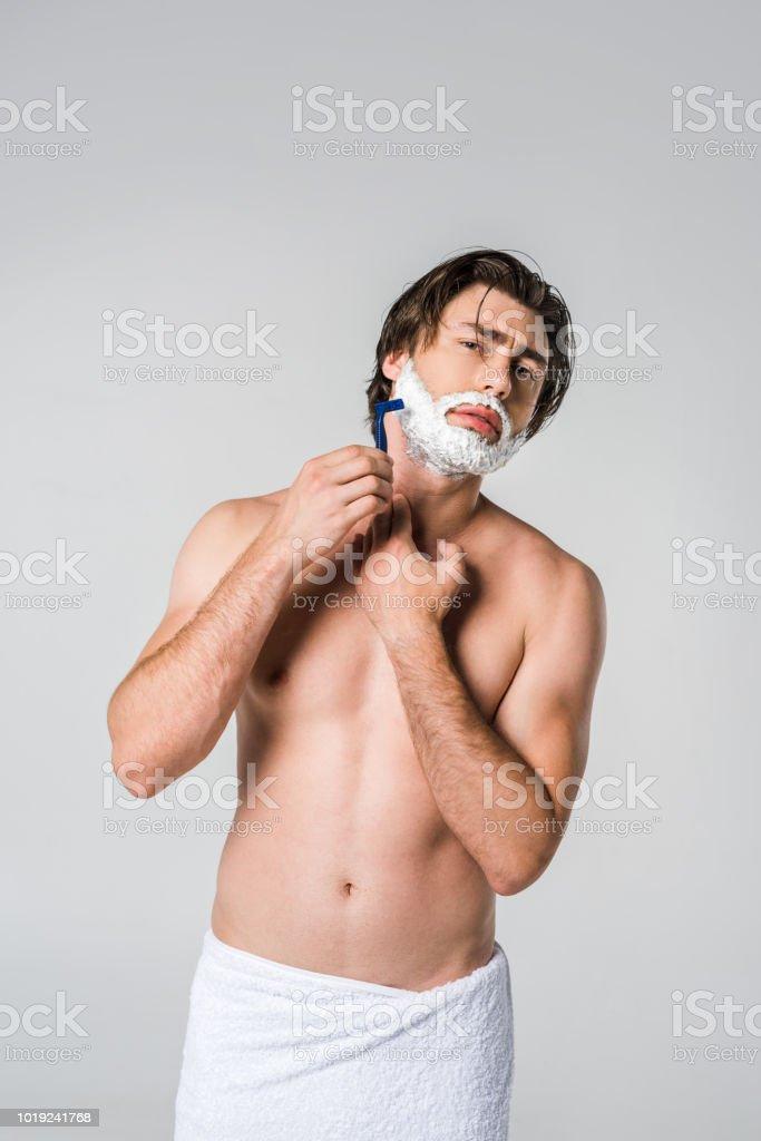 rasiert muskel jungen