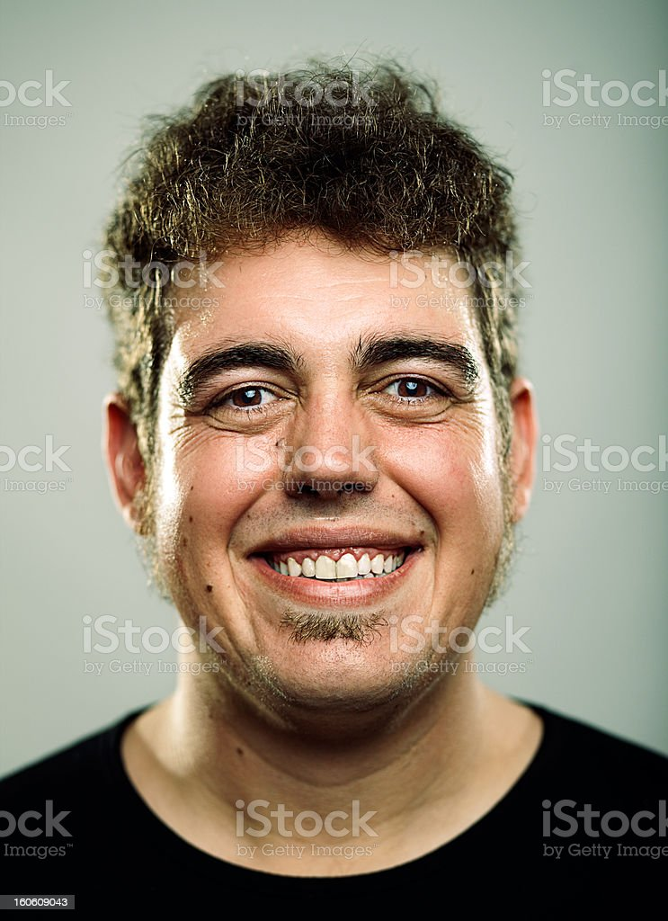Portrait of Young Man laughing royalty-free stock photo