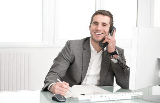 Portrait Of Young Man On The Phone Stock Photo - Download Image Now
