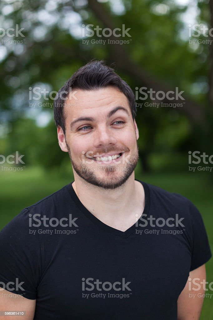 Portrait of Young Man Outdoors royalty-free stock photo