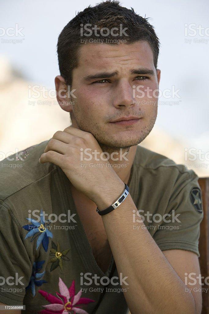 Retrato de hombre joven foto de stock libre de derechos