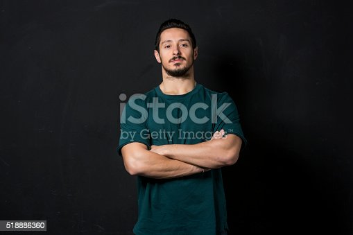 Portrait of a physically fit, muscular young man