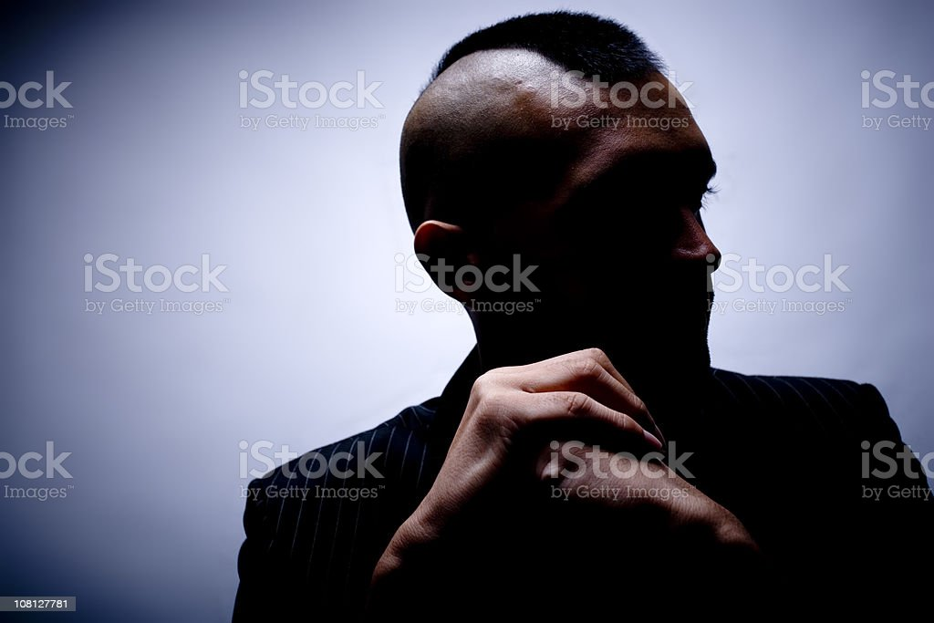 Portrait of Young Man with Mohawk Hairstyle royalty-free stock photo