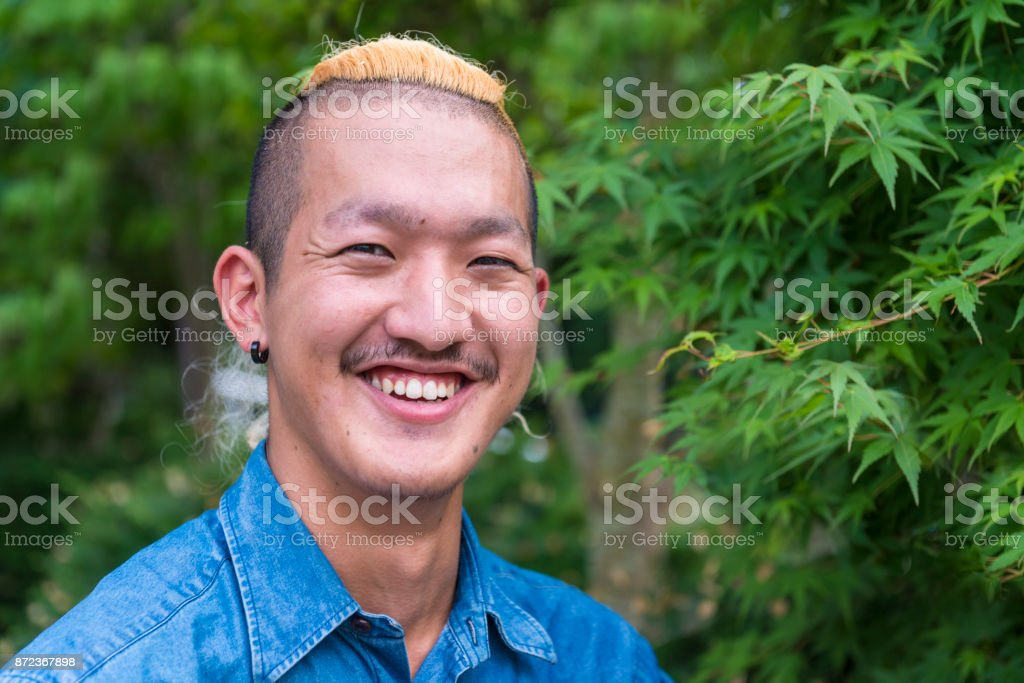 Portrait of young men stock photo