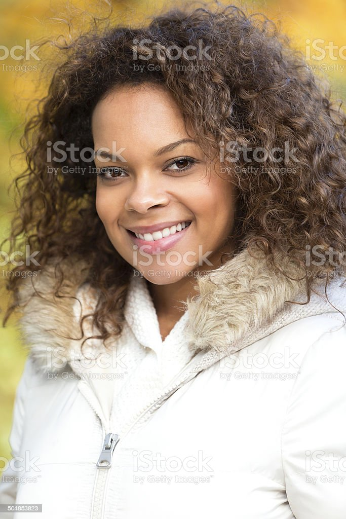 Portrait of Young Mixed Race Woman royalty-free stock photo