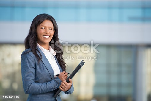 istock Portrait of young professional businesswoman. 519464116