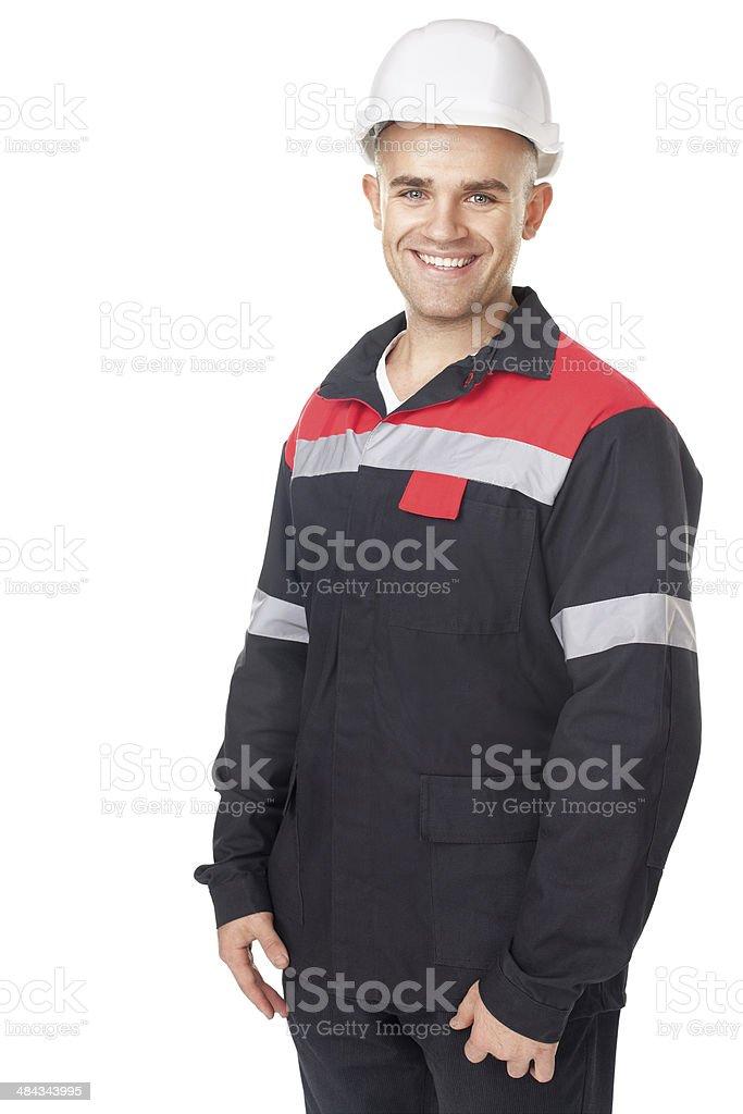 Porträt eines jungen, lächelnden engineer – Foto