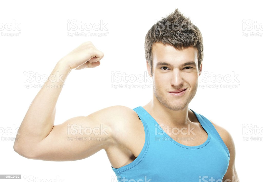 portrait of young strong man royalty-free stock photo