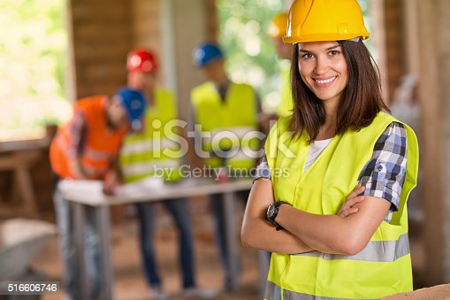 516607254 istock photo Portrait of young student of architecture posing 516606746