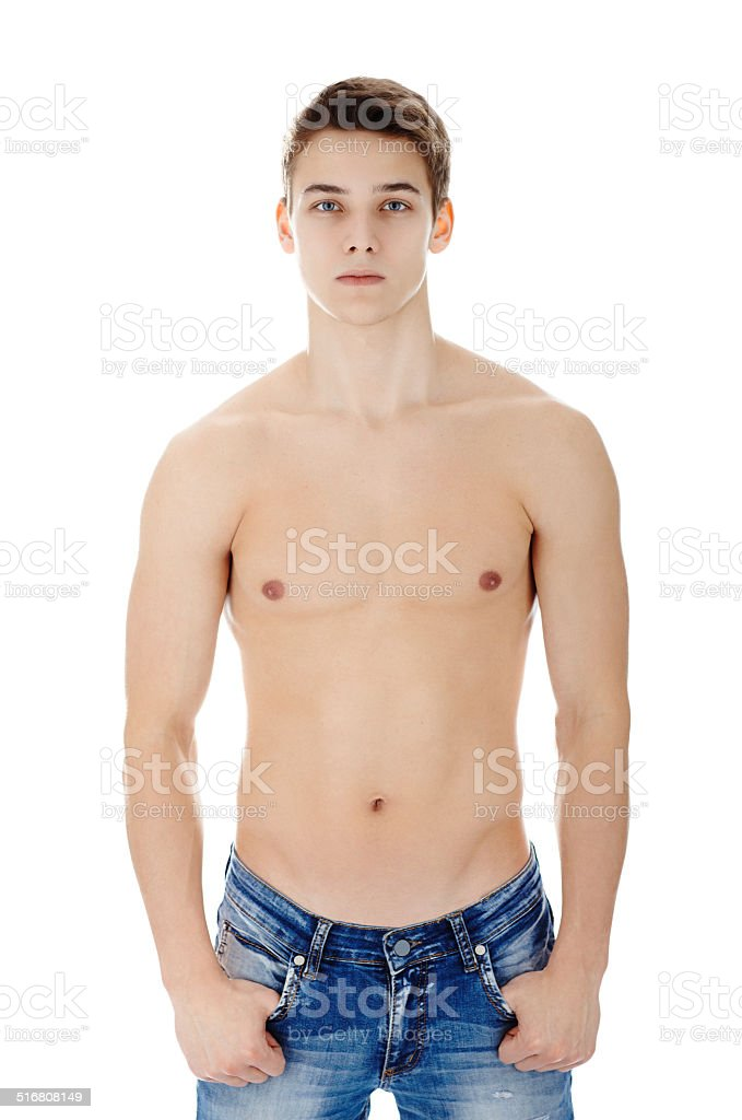 Portrait of young stylish man stock photo