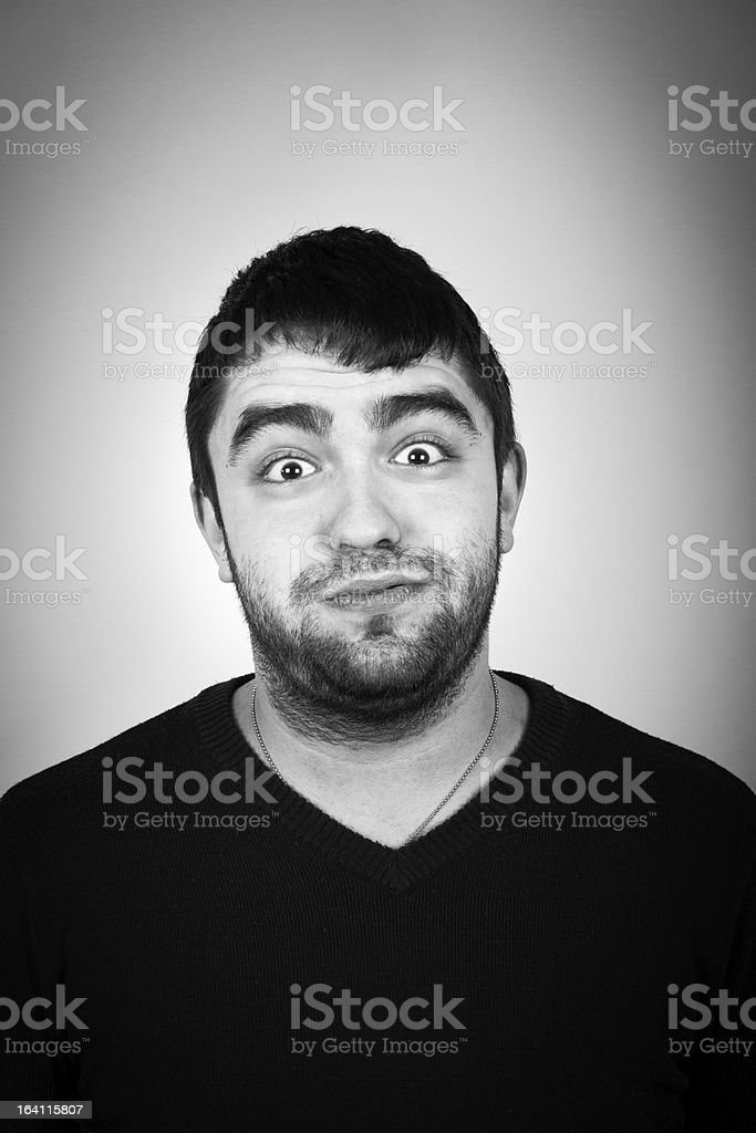 Portrait Of Young Surprised Man royalty-free stock photo