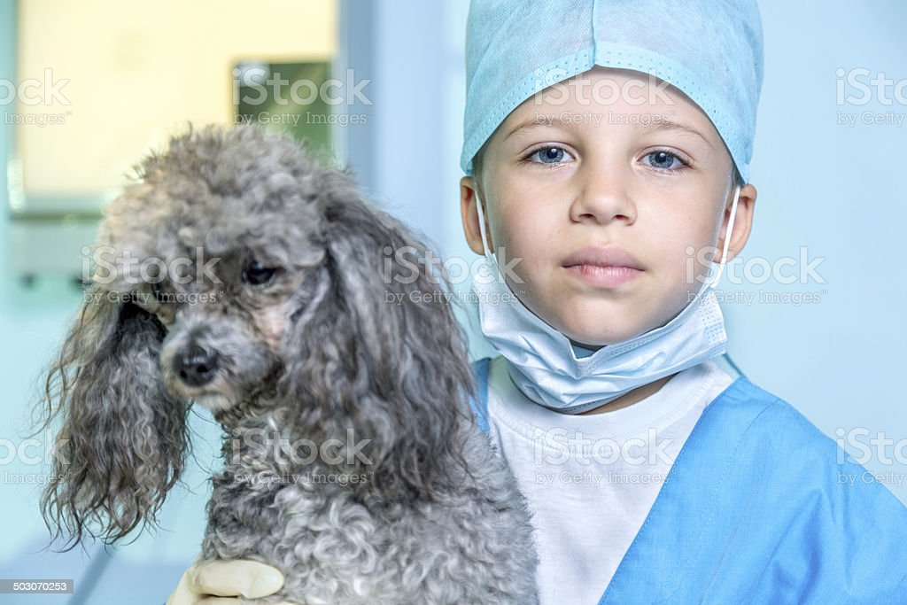 Portrait of young veterinarian royalty-free stock photo