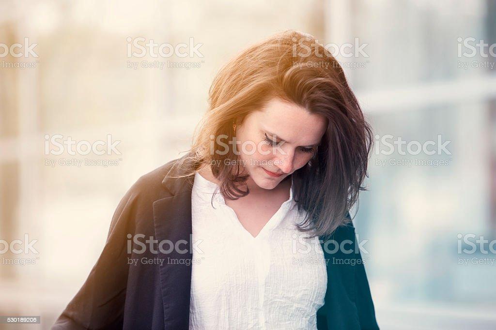 Porträt von junge Frau, traurig – Foto