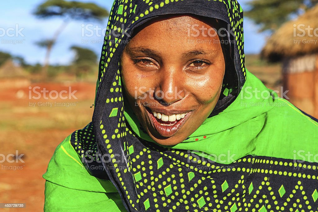 Portrait of young woman from Borana, Ethiopia, Africa royalty-free stock photo