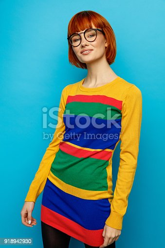 876629044istockphoto Portrait of young woman 918942930