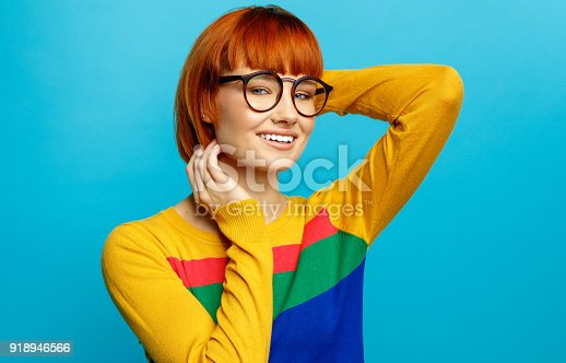 876629044istockphoto Portrait of young woman 918946566