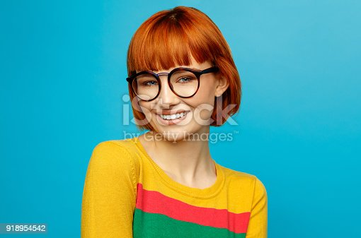 876629044istockphoto Portrait of young woman 918954542