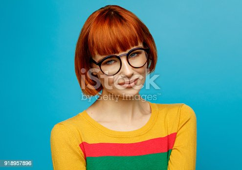 876629044istockphoto Portrait of young woman 918957896