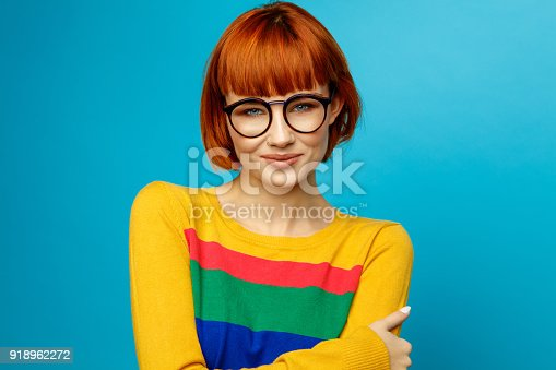 876629044istockphoto Portrait of young woman 918962272