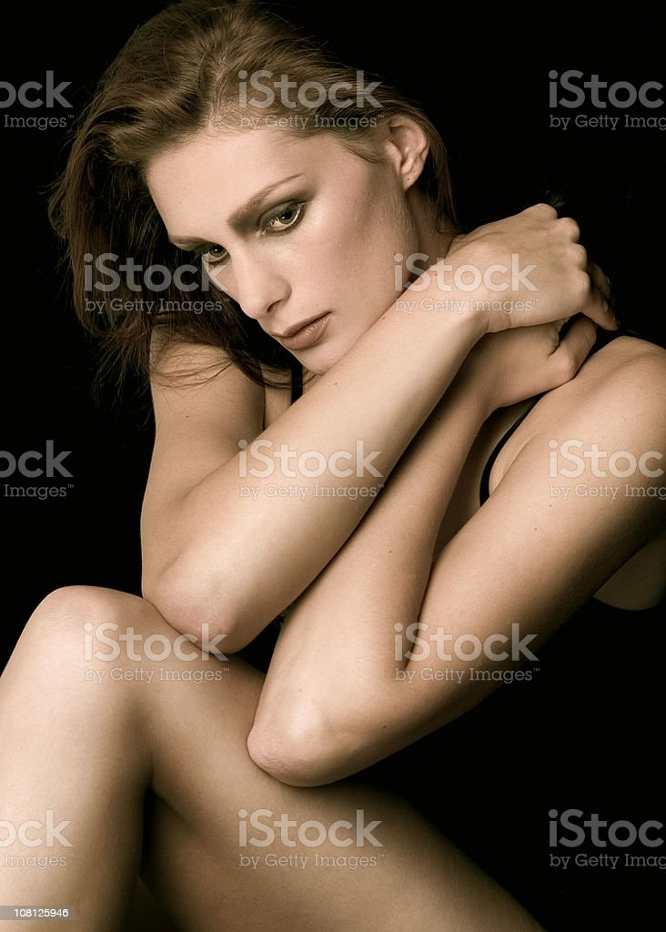 Portrait of Young Woman Posing stock photo