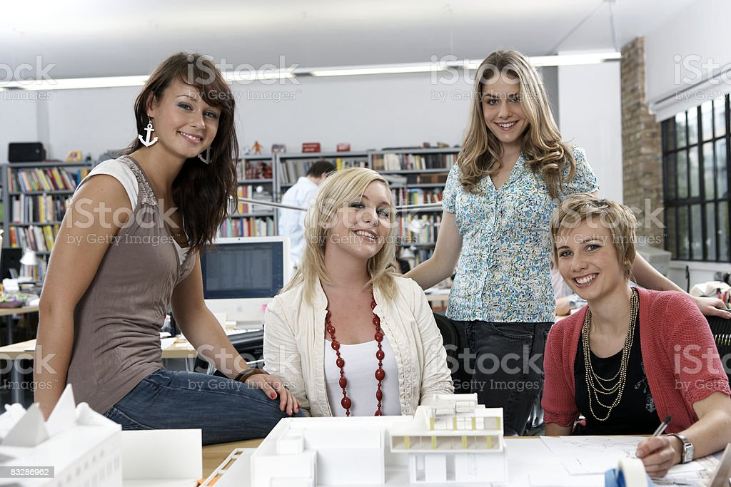 Portrait of young women in the office royalty-free stock photo