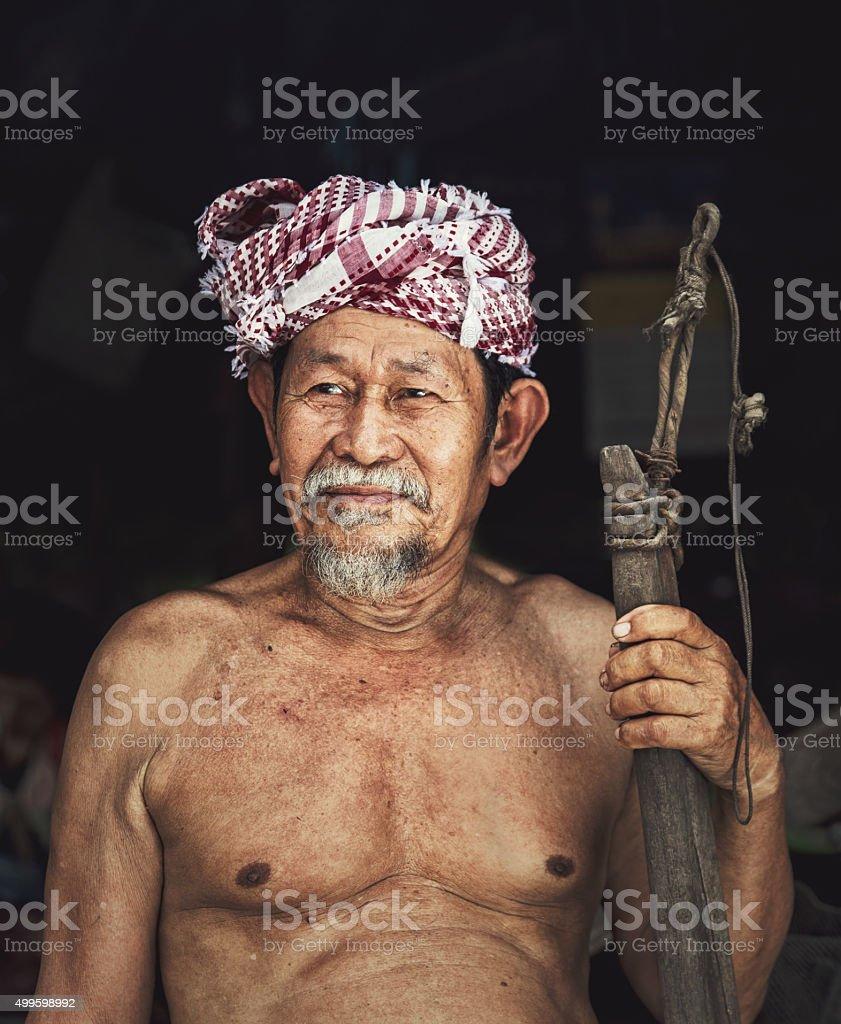 Portrait Old man stock photo