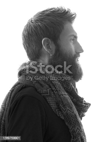 A portrait of an attractive man