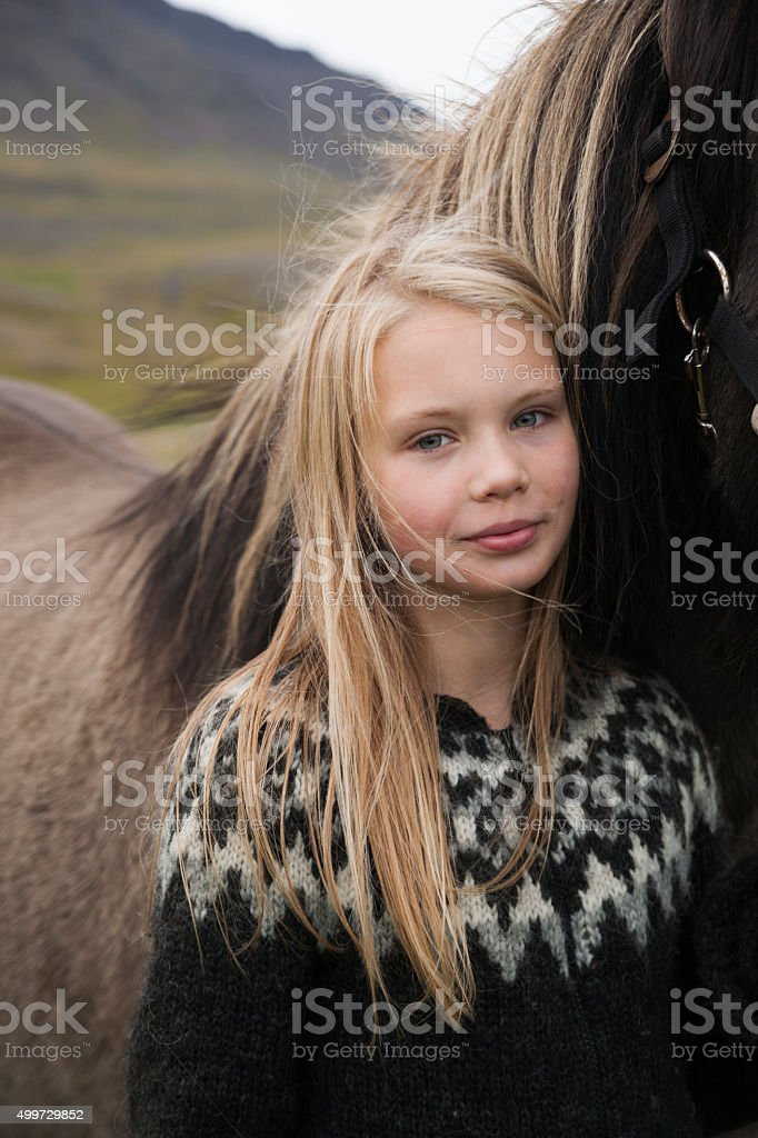 Portrait Pf A Pretty Blond Icelandic Girl Stock Photo  More Pictures Of 2015  Istock-4555