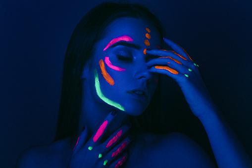 Portrait under UV light