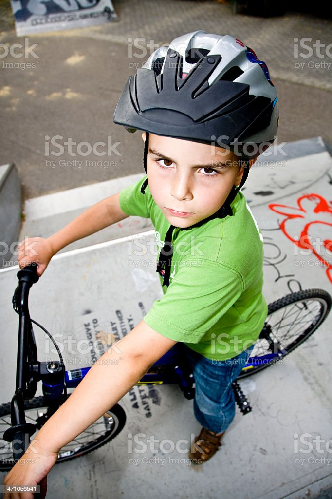 BMX Portrait royalty-free stock photo