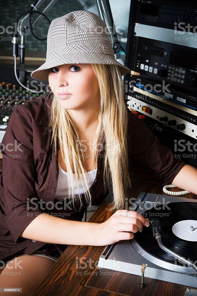 DJ Portrait royalty-free stock photo