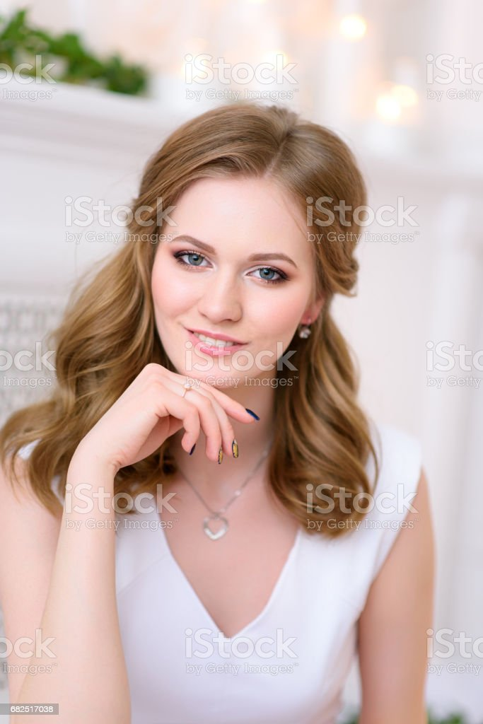 portrait picture of a young and natural beautiful girl looking royalty-free stock photo