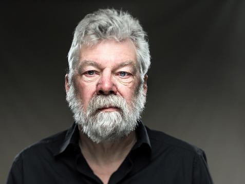 Portrait Real Man With Beard Looking Straight In Camera Stok Fotoğraflar & 50-59 Yaş Arası'nin Daha Fazla Resimleri