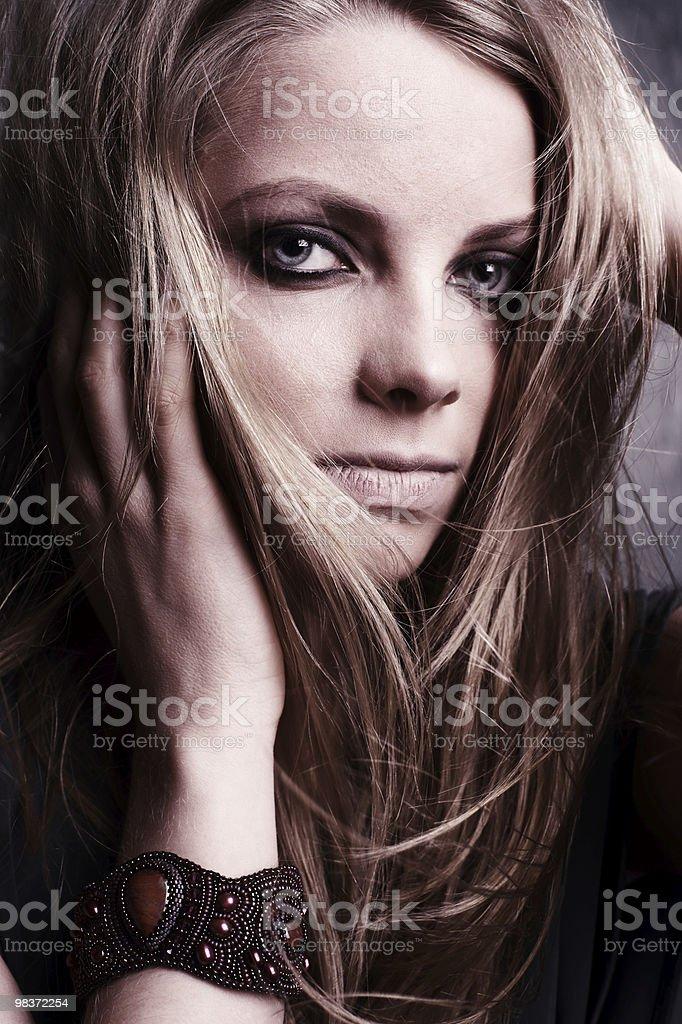 portrait shot of a beautiful caucasian woman royalty-free stock photo