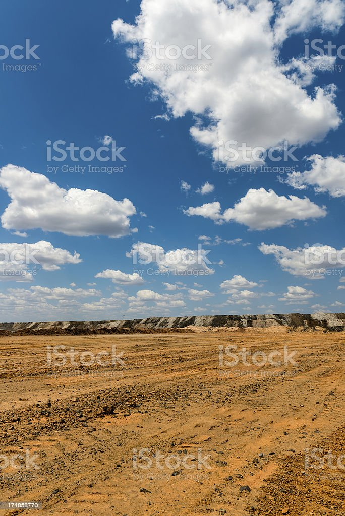 Portrait shot of Overburden Stockpiles in Mine royalty-free stock photo