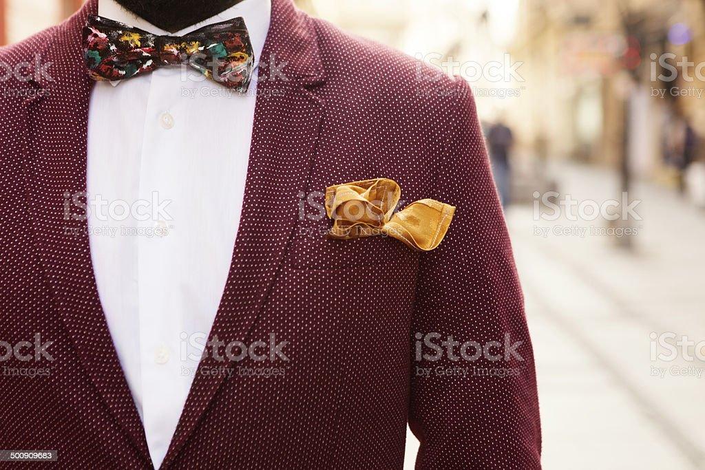 portrait shot of vintage suit stock photo