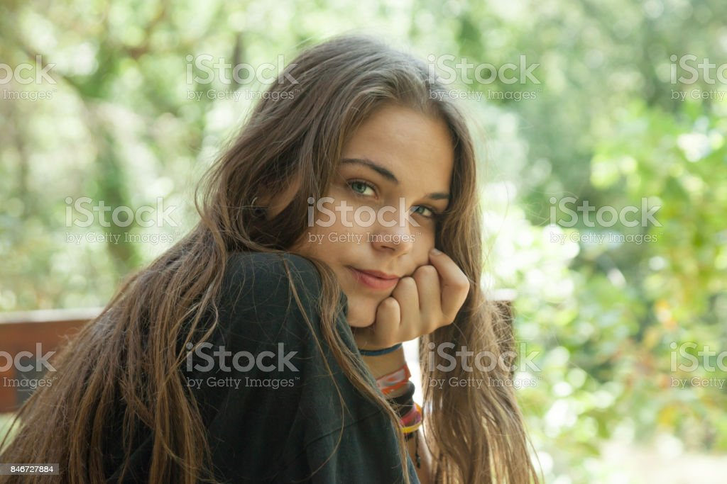 Portrait Teenager stock photo