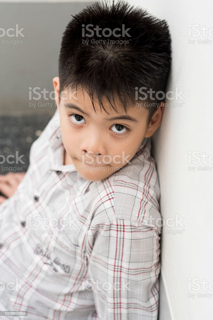 Portrait Thai Boy Cute Poses Professional Model Royalty Free Stock Photo