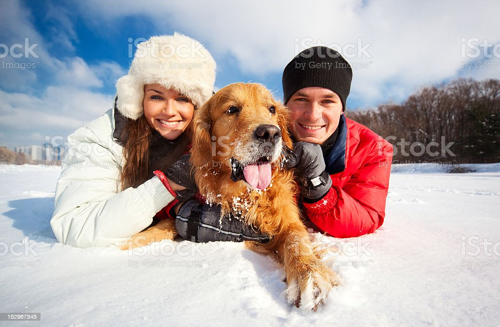 Portrait with dog royalty-free stock photo