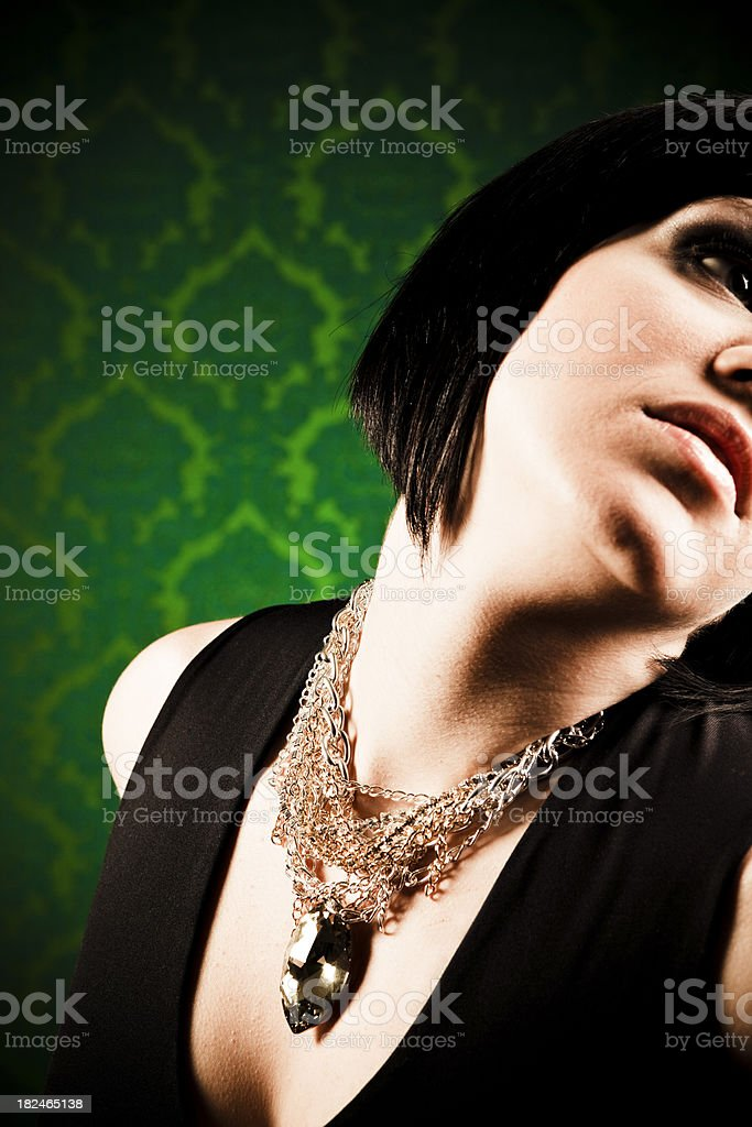 Portrait with necklace royalty-free stock photo