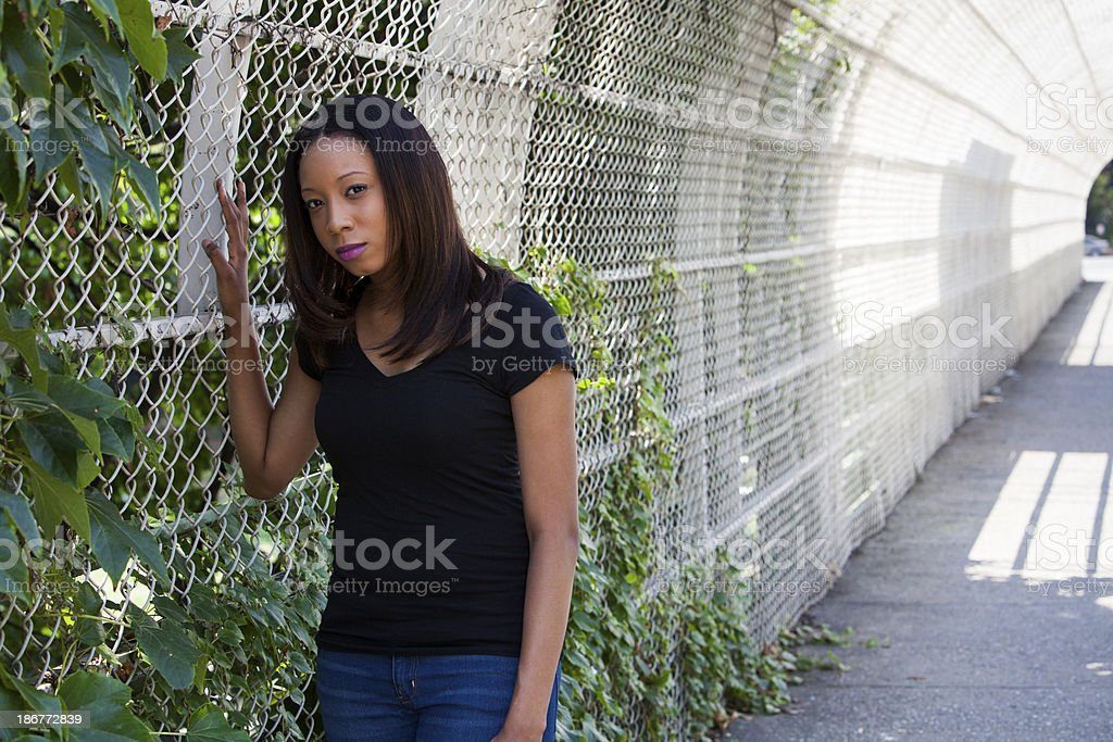 Portrait with perspective royalty-free stock photo