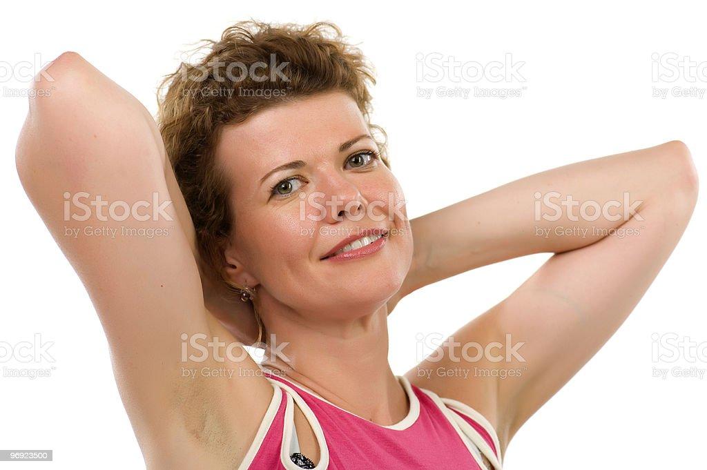 Portrait woman close up royalty-free stock photo