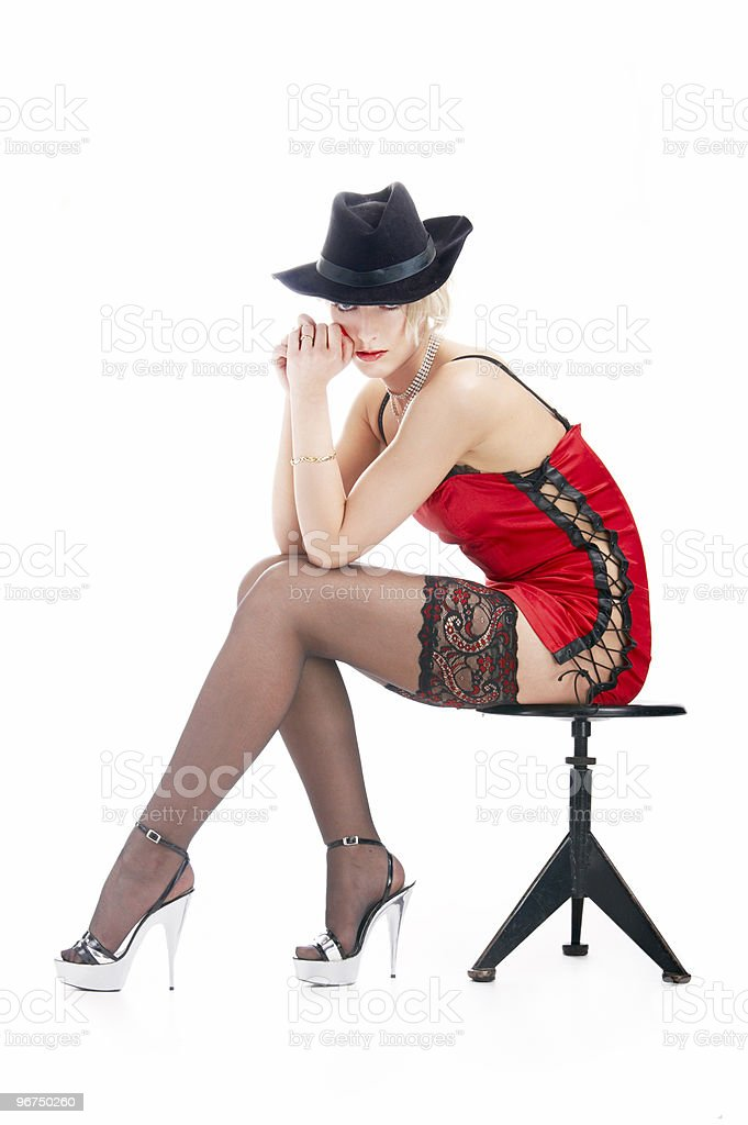 portrait woman in hat royalty-free stock photo