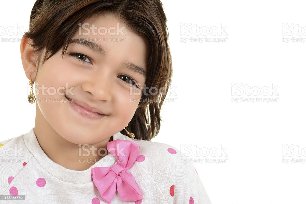 Portrait young romanian female child royalty-free stock photo