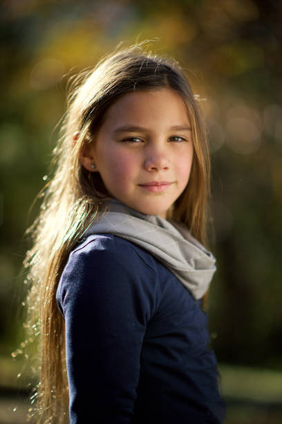 portrait young teenage girl - tween models stock photos and pictures