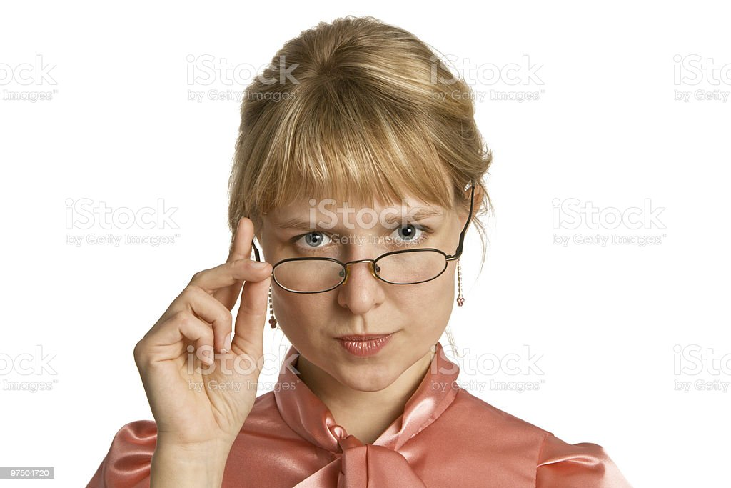 Portrait young woman in glasses royalty-free stock photo